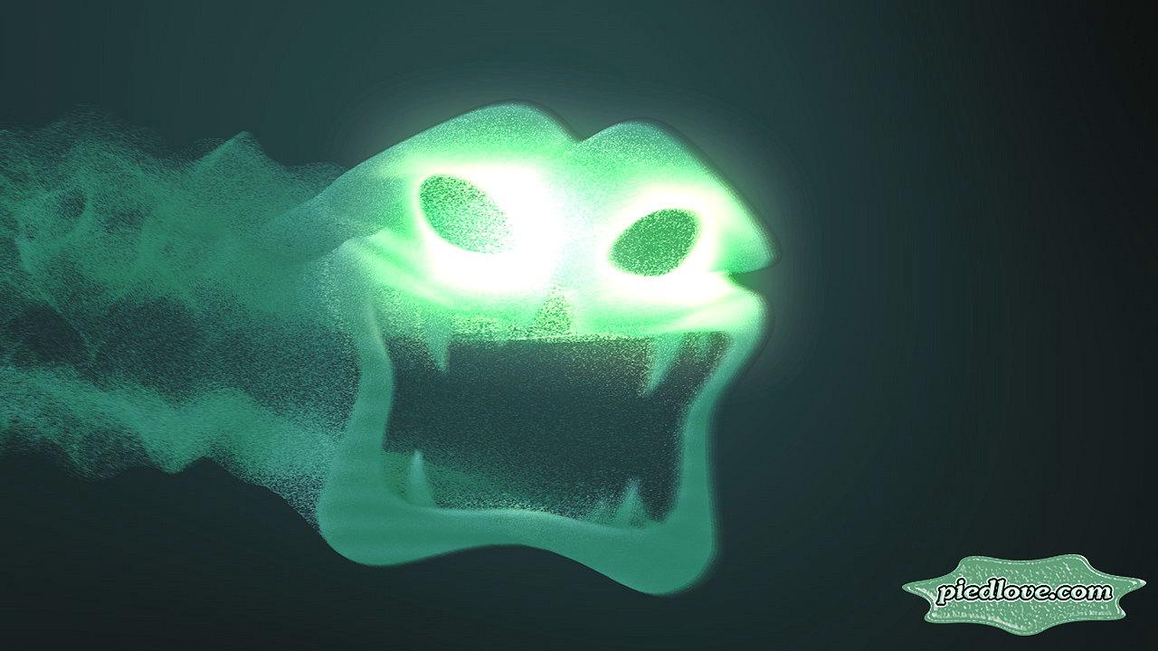 Ghost Scary Head 3D Hovering- screenshot