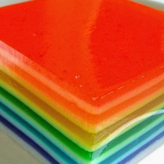 Rainbow Agar Agar (Jelly).