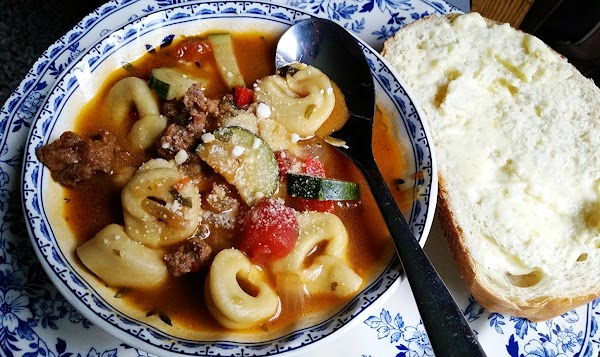 Top with Parmesan cheese & serve with a crusty slice of Italian bread.Enjoy!