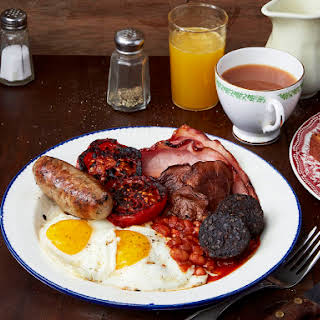 Full English Breakfast With Cumberland Sausage.