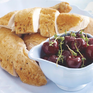 Roast Chicken with Pickled Cherries