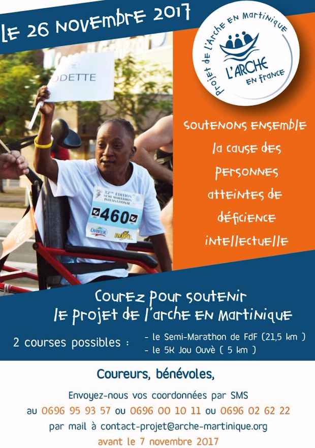 Le projet de L'Arche en Martinique participe au semi-marathon de Fort de France