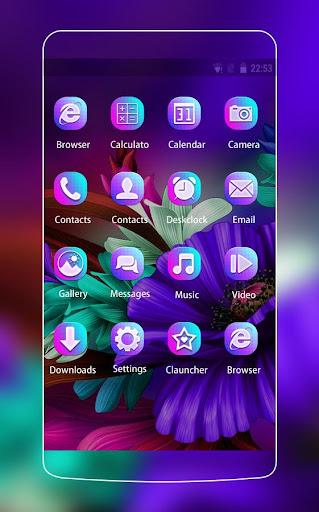 Themes app for  S6 Purple Bloom flower 3.9.9 screenshots 2