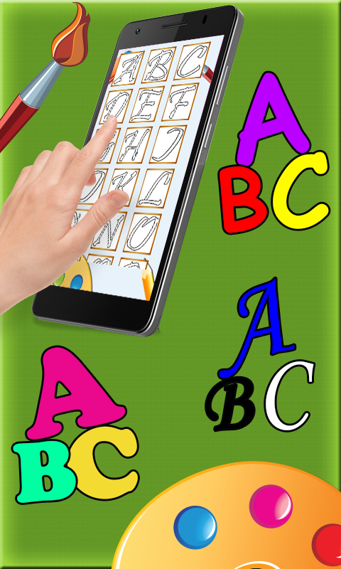 ABC coloring pages pro- screenshot