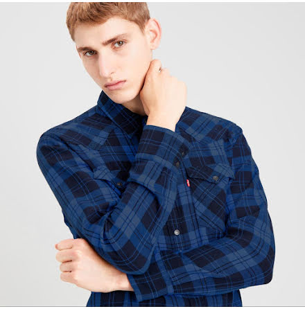Levi's Barstow western shirt archer mineral black