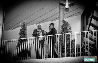 Photo: Die drei Gastgeber der DGPuK 2014: Thomas Knieper, Oliver Hahn und Ralf Hohlfeld - kurz vor dem Grußwort beim Get Together.   Foto: Janertainment Janine Amberger