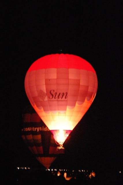 Sun hot air balloon