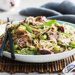 Lamb and Edamame Soba Noodles