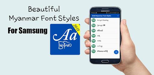 SAM Myanmar Font Styles(Filpfont) for PC
