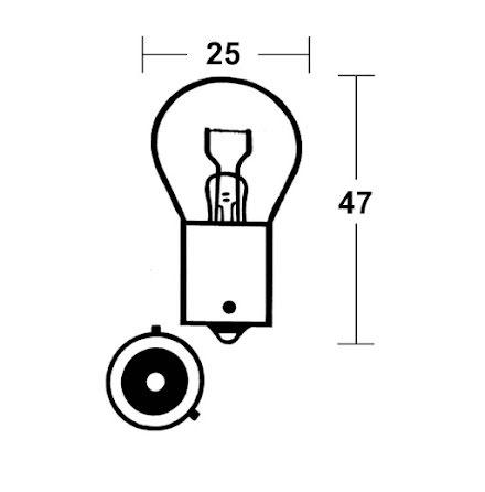 Incandescent lamp PY21W SilverStyle 12V 21W BAU15s