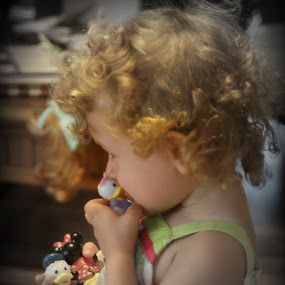 Kissing Daisyd  by Peggy Clark - Babies & Children Children Candids ( love, kissing, granddaughter, child,  )
