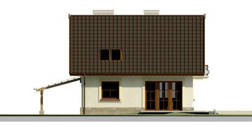 Dom przy Cyprysowej 26 - Elewacja tylna