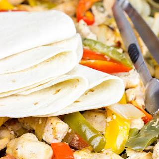 Sheet Pan Chicken Fajitas.