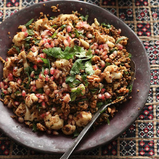 Freekeh With Cauliflower, Pomegranate And Mint