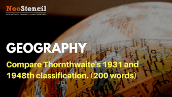 Geography Answer Writing Challenge – Question Set 6