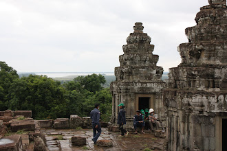 Photo: Year 2 Day 44 -  Towers and Works on the Top of Phnom Bakheng