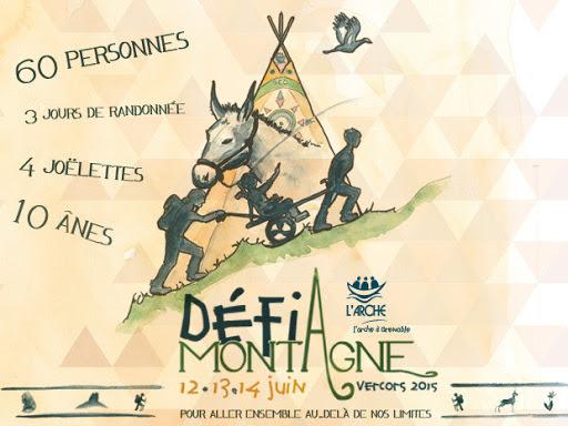Défi Montagne Vercors 2015 au profit de L'Arche à Grenoble