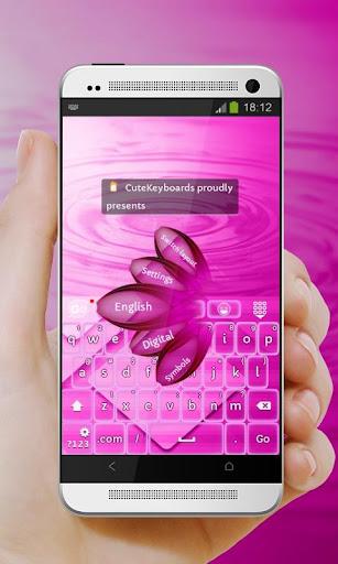 ブリリアントピンク GO Keyboard