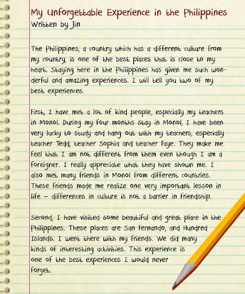 example essay my most unforgettable experience