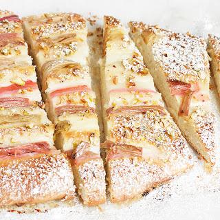 Rhubarb Pistachio Sweet Flatbread