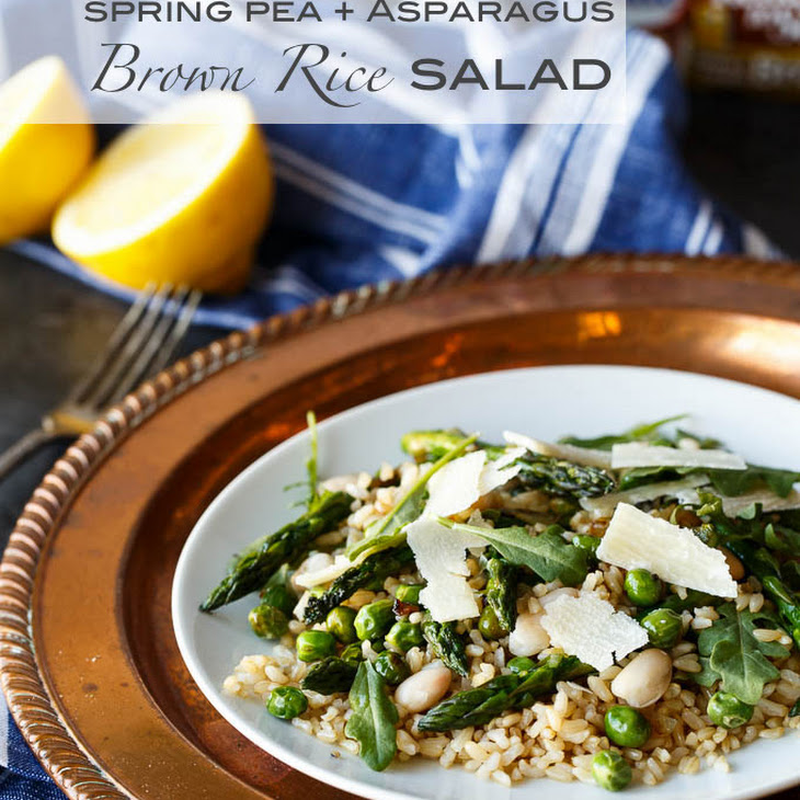 Gluten Free Spring Pea and Asparagus Brown Rice Salad Recipe | Yummly