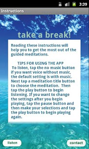 Free Meditation – Take a Break App Download For Android and iPhone 2