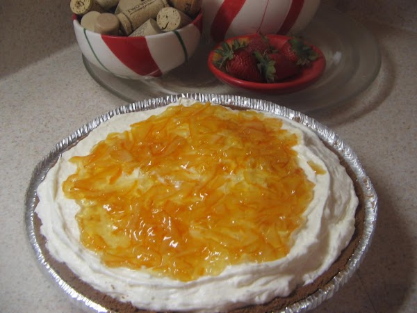 Carefully spread the marmalade over top of filling mixture.