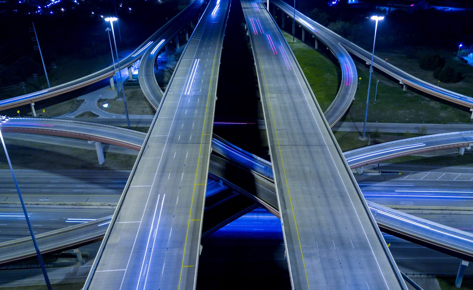 Highway intersection in Dallas, Texas.