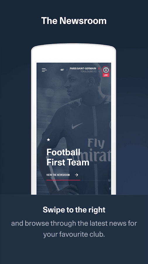 PSG Official: the Paris Saint-Germain App- screenshot