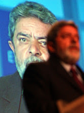 Photo: DAVOS,26JAN03 - Luis Inacio Lula da Silva, President of Brazil speaks during the session '192 Dialogue with the President of Brazil on Global Governance' at the 'Annual Meeting 2003' of the World Economic Forum in Davos/Switzerland, January 26, 2003. 