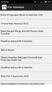 VoA Indonesia screenshot 0
