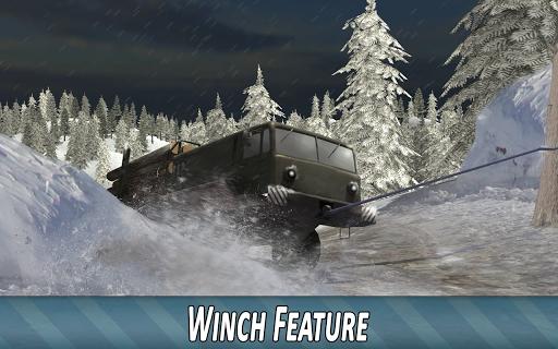 Winter Timber Truck Simulator apkmr screenshots 3