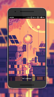Pixel City Live Wallpaper - náhled