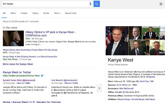 Kanye for VP