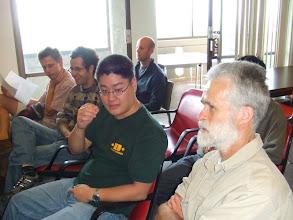 Photo: Gabor Pete, Ethan Anderes, Elchanan Mossel, Richard Liang and Jim Pitman