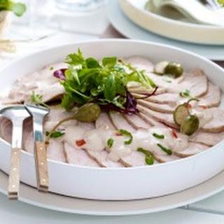Puten-Carpaccio mit Thunfischcreme