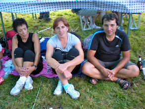 "Photo: JOSEFINA ""la otra"", LILIAN y FEDERICO. ¿Onde coño tará Moises?"