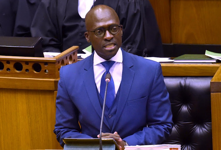 Finance Minister Malusi Gigaba delivering his medium-term budget speech on Wednesday. Picture: GCIS