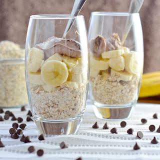 Chocolate, Banana & Almond Breakfast Cheesecake.