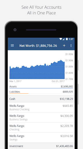 Personal Capital -Budgeting,Investing,Finance App  screenshots 1