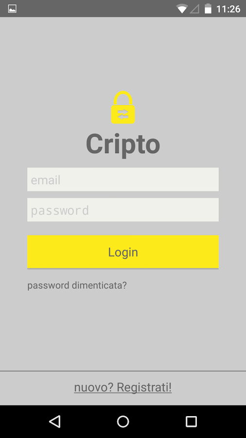 Cripto - Send encrypted text- screenshot