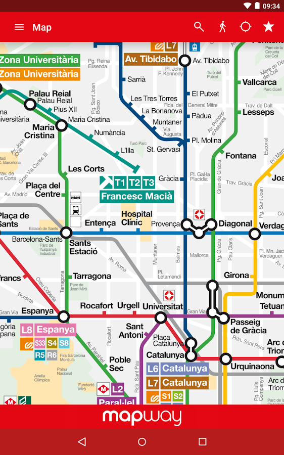 Barcelona Metro  TMB map and route planner  Android Apps on