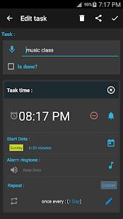 Yapılacak hatırlatıcı Ekran Görüntüsü