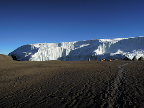 Photo: The Northern Ice Field (NIF) margin and our camp