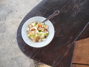 Photo: A local favorite- Conch Salad! Andros Island Bonefish Club