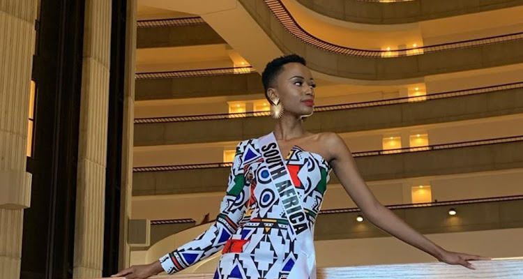 Miss Universe Zozibini Tunzi is a fan of vibrant African prints and statement earrings.