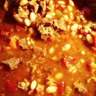 Lentil & Beef Soup.