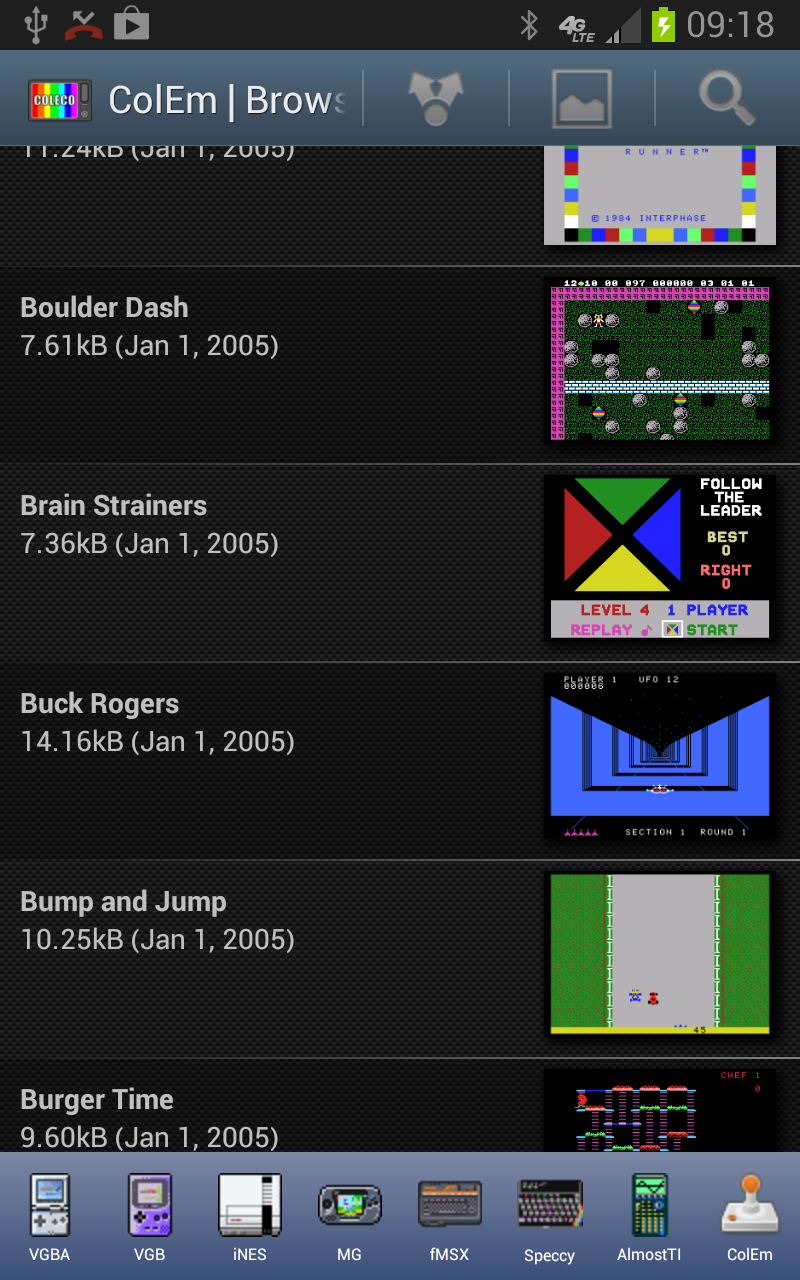 ColEm Deluxe - Complete ColecoVision Emulator Screenshot 0