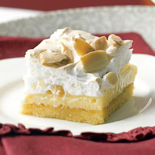 Lemon Almond Meringue Bars