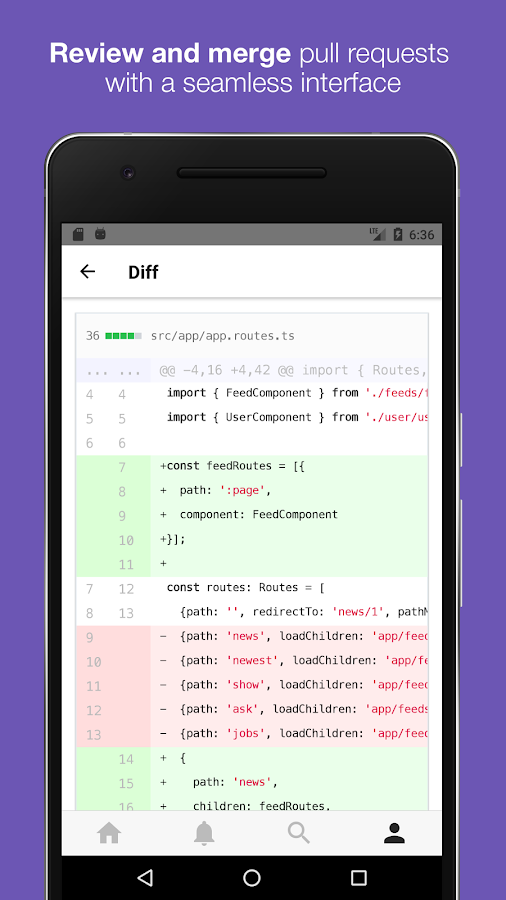 GitPoint - GitHub in your pocket- screenshot
